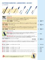 ELETTRODI HAMILTON - LABORATORIO - ISO 9001