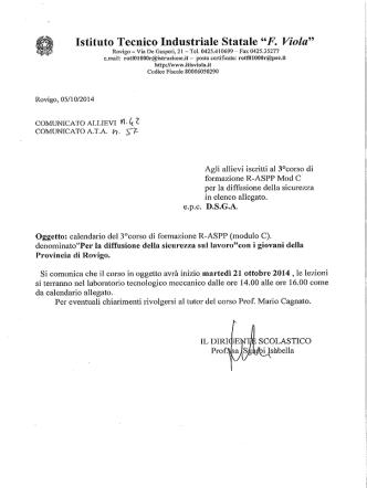 0057 calendario corso R-ASPP - IIS Viola Marchesini Rovigo
