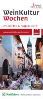 Broschüre Wein-Kultur-Wochen 2014
