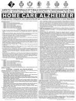 Programma HOME CARE ALZHEIMER