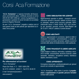 Corsi Aca Formazione - Associazione Commercianti Albesi