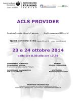 programma corso ACLS ottobre