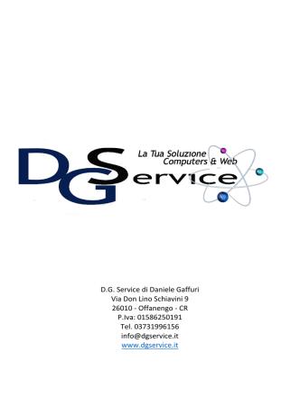 D.G. Service di Daniele Gaffuri Via Don Lino