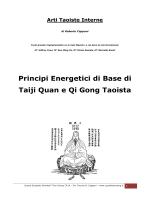 Principi Energetici di Base di Taiji Quan e Qi Gong Taoista