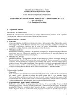 Programma - Matematica - Seconda Università degli Studi di Napoli