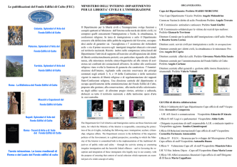Brochure ministero interno XXXI assemblea Anci