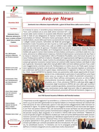 Ava-ye 12/2013 - Camera di Commercio Italo