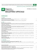 Pubblicato sul Bollettino Ufficiale della Regione Lombardia n. 21 del