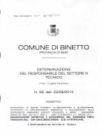 COM∪NE DI BINE¬阿 - Comune di Binetto