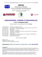 adolescenza, cinema e psicoanalisi - Psicologia