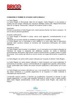 Condizioni e termini di utilizzo delle Carta Regalo Bricocenter