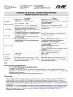 Requisiti hardware e software versioni 2014
