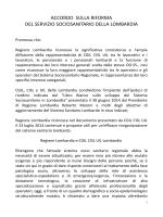 accordo sulla riforma del servizio sociosanitario
