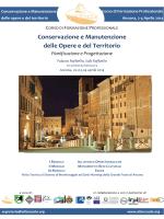 Conservazione e Manutenzione delle Opere e del Territorio