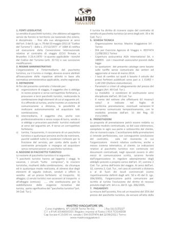condizioni generali e assicurazione