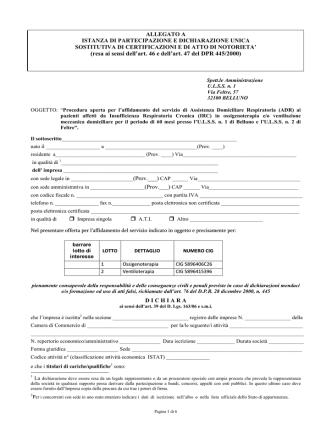 allegati di gara application | PDF