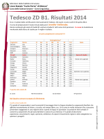 Tedesco ZD B1. Risultati 2014