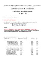 Calendario esami Ammissione Biennio e Triennio a.a. 2014