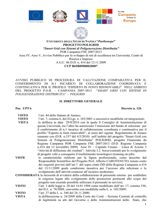 Bando - Università degli Studi di Napoli