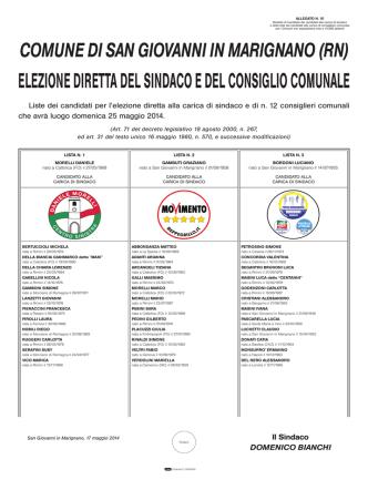 Candidati - Prefettura