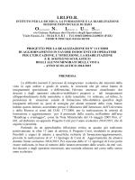 PROGETTO CORSI I.RI.FO.R 2014 2015