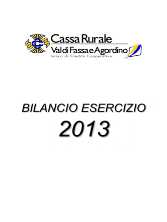 2013 - Cassa Rurale Val di Fassa e Agordino