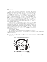 Disclaimer - Home page degli studenti di Matematica