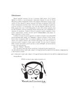 Disclaimer - Home page degli studenti di Matematica