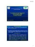 Il contributo dei Centri Regionali di Farmacovigilanza (CRF