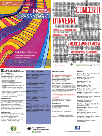 Claudio Rastelli - Amici della Musica | Modena