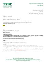 Indizione gara regionale AGONISTICA GAF