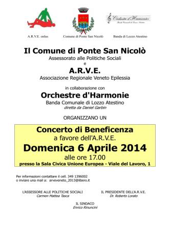 AAA Volantino ARVE 140406 - Comune di Ponte San Nicolò