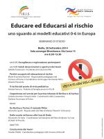 Educare ed Educarsi al rischio
