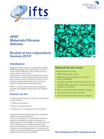 AFM® Materiala Filtrante Attivato