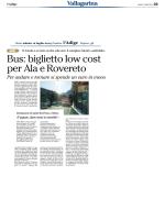 Bus, meno caro il biglietto Ala-Rovereto