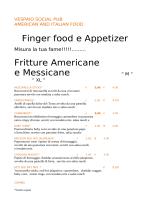 Il nostro menù - Vespaio Social Pub