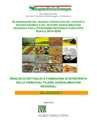 ALLEGATO 1 - Agricoltura e pesca - Regione Emilia