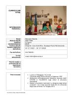 """curriculum vitae - Liceo Scientifico """"G. Peano"""""""