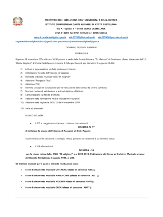 Delibere collegio 28 Novembre 2014 - IC Dante Alighieri