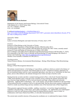 2014_06_09 Paola Bonfante Curriculum 2014