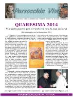 Parrocchia Viva - Quaresima 2014
