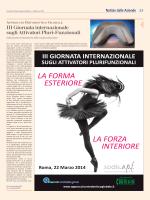 III Giornata internazionale sugli Attivatori Pluri