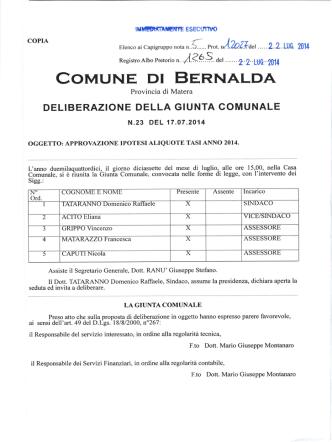 COMUNE DI BERNALDA