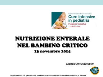 Anna Battistin (Padova) - Cure intensive in pediatria
