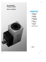 Druckschalter Pressure switch PEV-1/4-B-M12