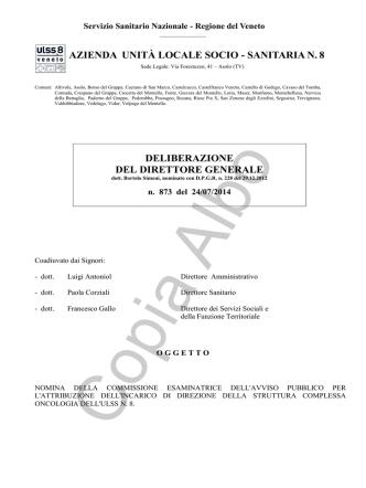 delibera commissione Oncologia 2014