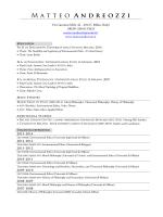 Curriculum Vitae - Matteo Andreozzi