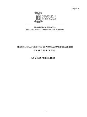 All_A Bando 2015 - Provincia di Bologna