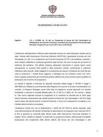 Delibera del 25 giugno 2014, n. 23/9 [file ]