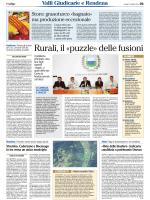 Rurali, il «puzzle» delle fusioni
